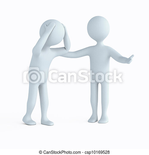 Clip Art of Offer of help - Character offers help the ...
