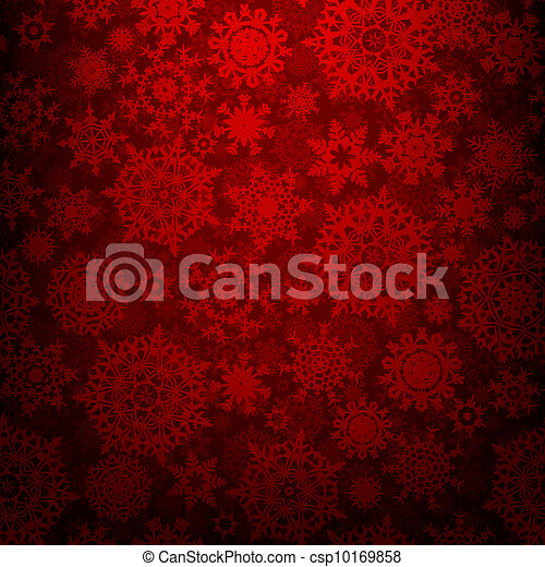 Seamless deep red christmas texture. EPS 8 - csp10169858