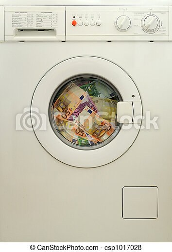 money laundering in washing machine - csp1017028