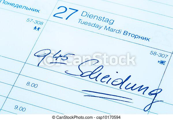 entry in calendar: divorce - csp10170594