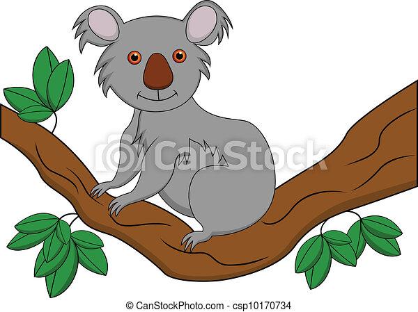 Funny koala cartoon  - csp10170734