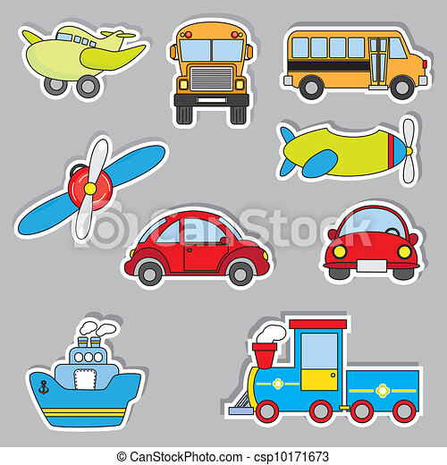 transportation sticker icons - csp10171673