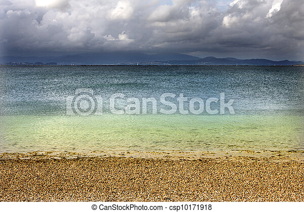 paradise beach landscape, nature and summer holidays - csp10171918