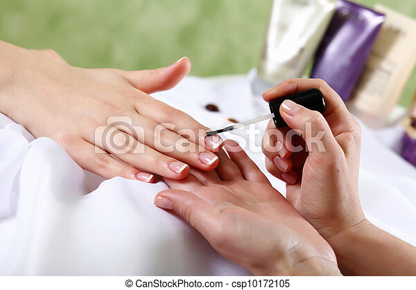 Female hands and manicure related objects - csp10172105