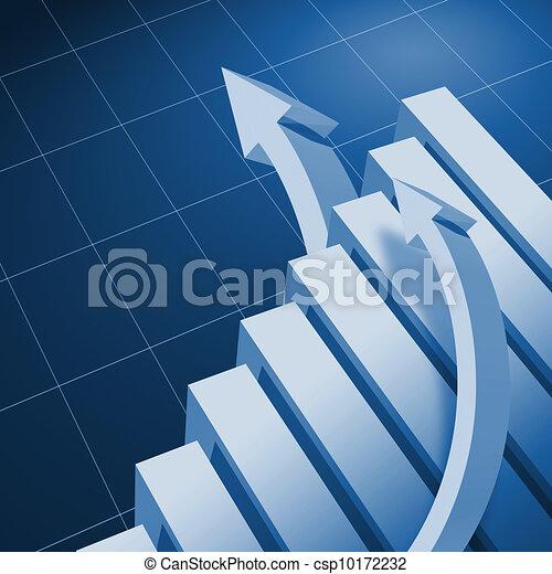 Charts and upward directed arrows - csp10172232