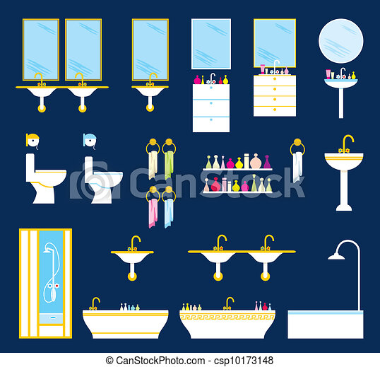 Bathroom equipment set - csp10173148