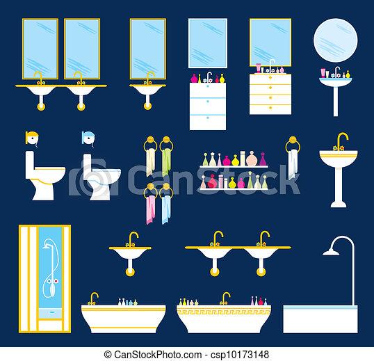 Bathroom equipment set - csp10173148