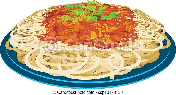 Spaghetti in a plate - csp10173150