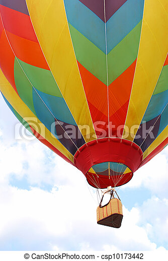 Hot Air Balloon in Sky - csp10173442