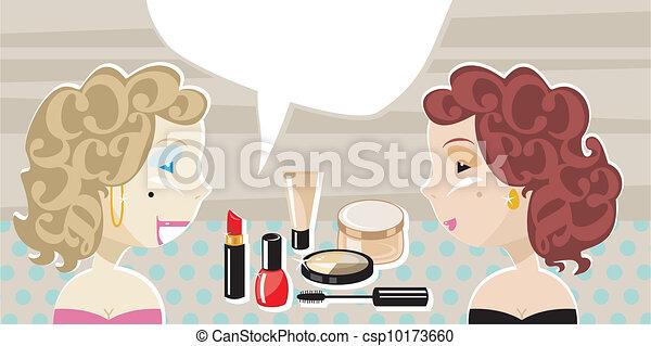 Stylish Ladies And Cosmetics - csp10173660