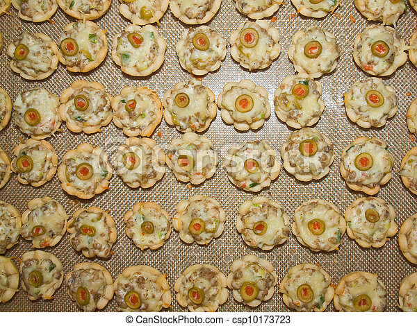 Cheesy Festive Sausage Cups as Holiday Appetizers - csp10173723