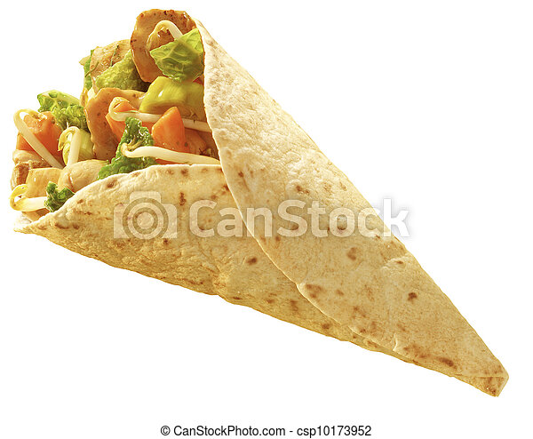Stock Images of tortilla Chicken wrap - chicken and vegetables ...