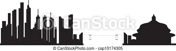 chongqing skyline china - csp10174305