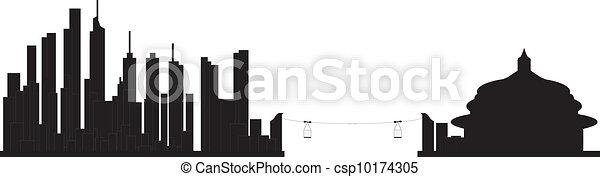 chongqing skyline china - csp10174305