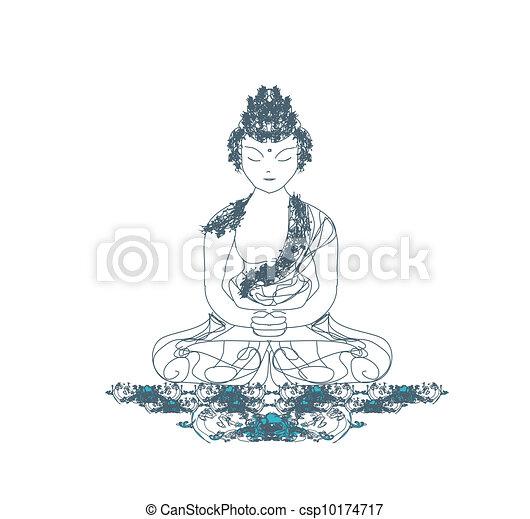 Artistic Buddhism Pattern - csp10174717