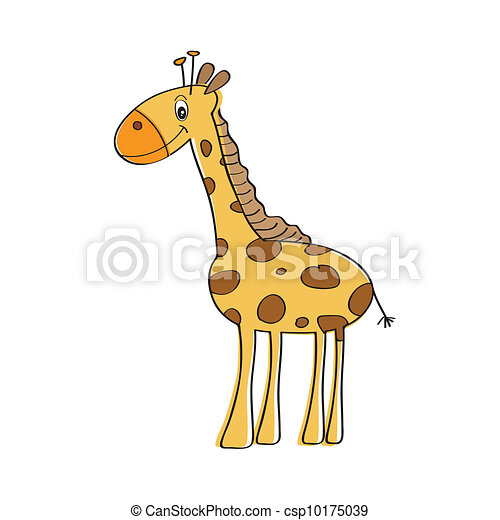 lonely vector giraffe isolated  - csp10175039