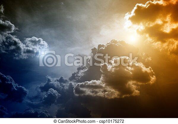 Dramatic sky - csp10175272