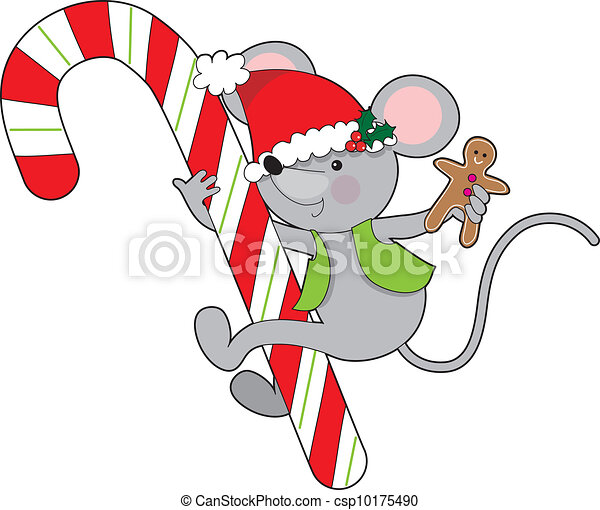Candy Cane Mouse - csp10175490