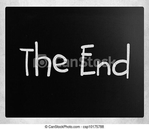 """库存照片-""""the, end"""", 手写, 白色, 粉笔, 黑板"""