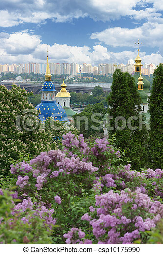 Beautiful Botanical Garden in spring. Kyiv, Ukraine - csp10175990