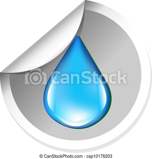 Sticker With Water Drop - csp10176203