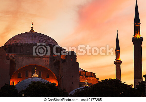 Mosque at Sunset - csp10177285
