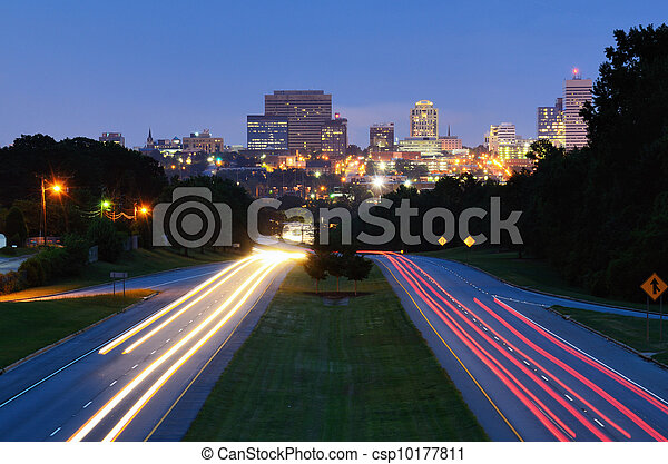 Columbia, South Carolina Skyline - csp10177811