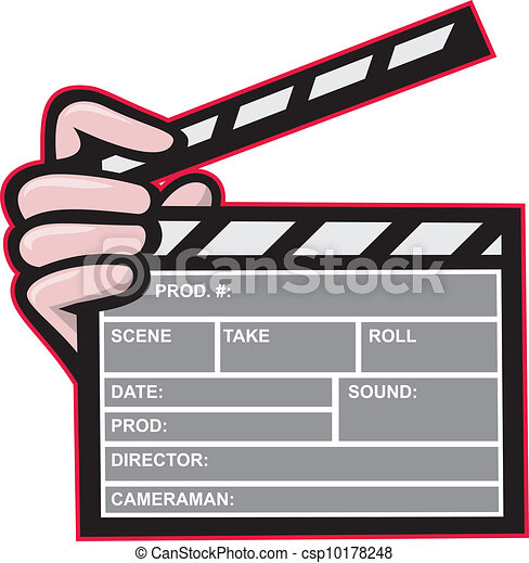 Clapboard Clapperboard Clapper Front - csp10178248