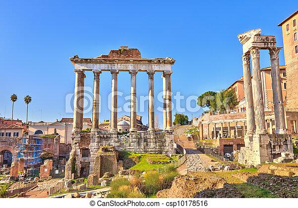 Roman ruins in Rome, Forum - csp10178516