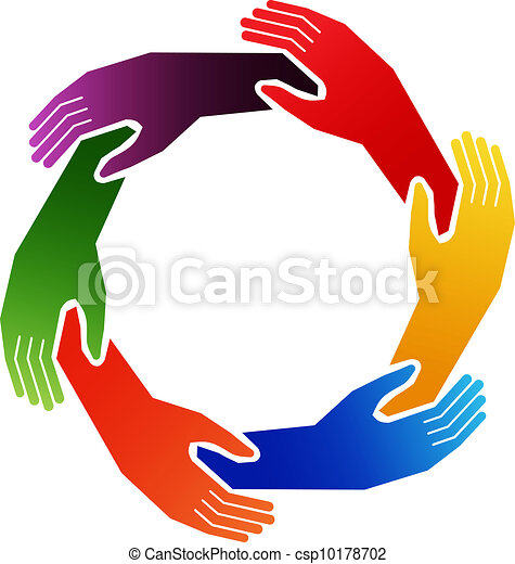 Vector Clipart o...A Circle Of Hands Clipart