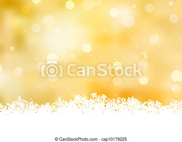 Gold christmas background with copy space. EPS 8 - csp10179225