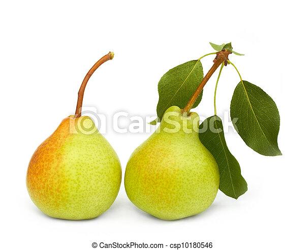 pears on white - csp10180546