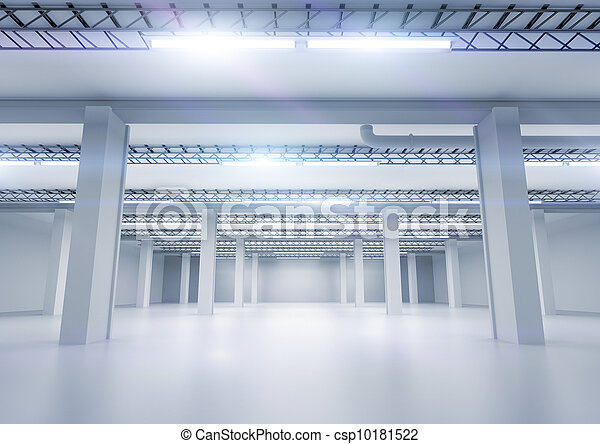 Clean Industrial Warehouse - csp10181522