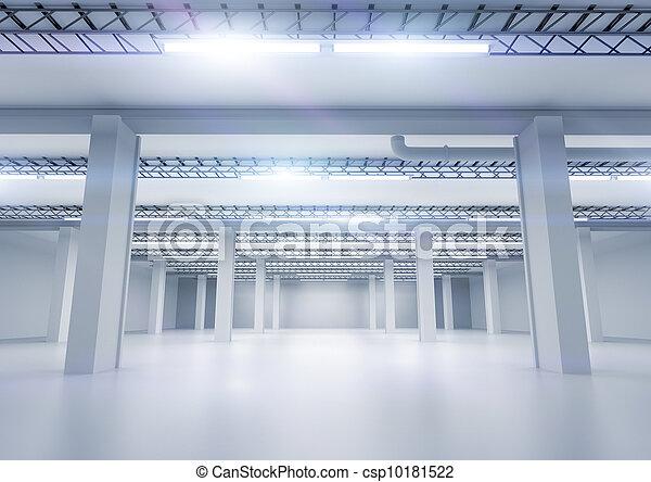 Clean Industrial Warehouse - csp10181522