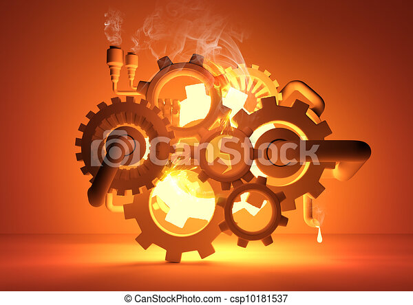 Gears of Industry - csp10181537