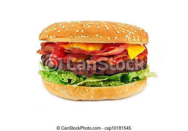 Bacon Cheeseburger Clip Art Bacon cheeseburger - csp10181545Bacon Cheeseburger Clip Art