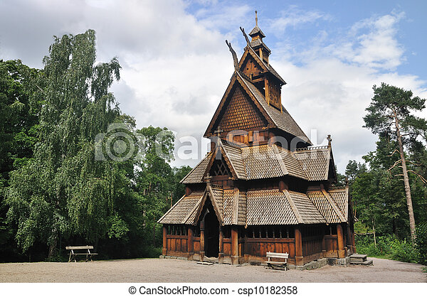 Gol stave church in Folks museum Oslo - csp10182358