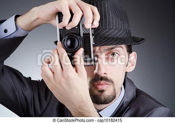 摄影师, 人, 葡萄收获期, 照相机
