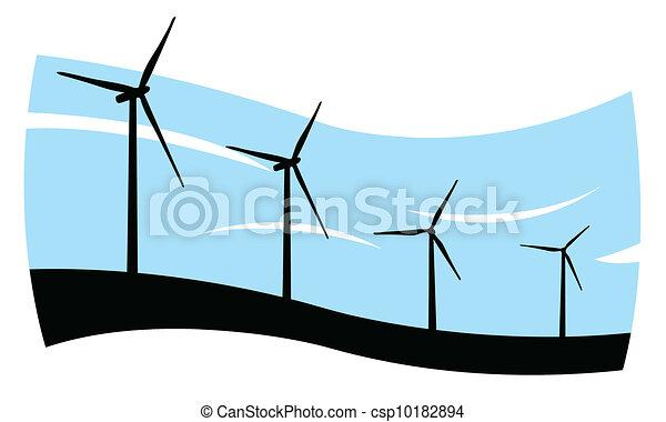 wind turbines - csp10182894