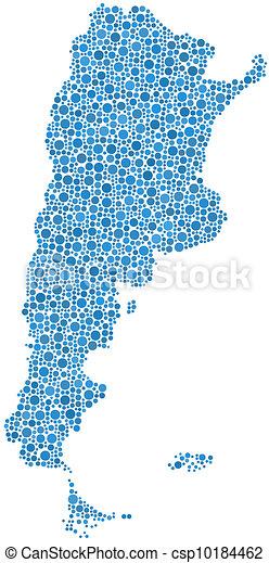 Map of Argentina (Latin America) - csp10184462