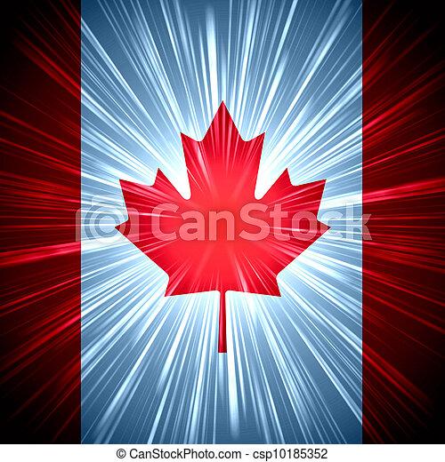 Canadian flag  - csp10185352