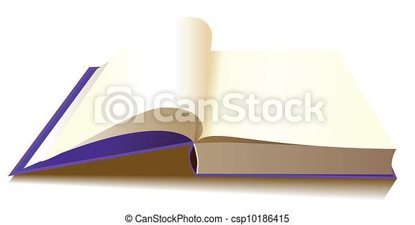 矢量-打开, 书