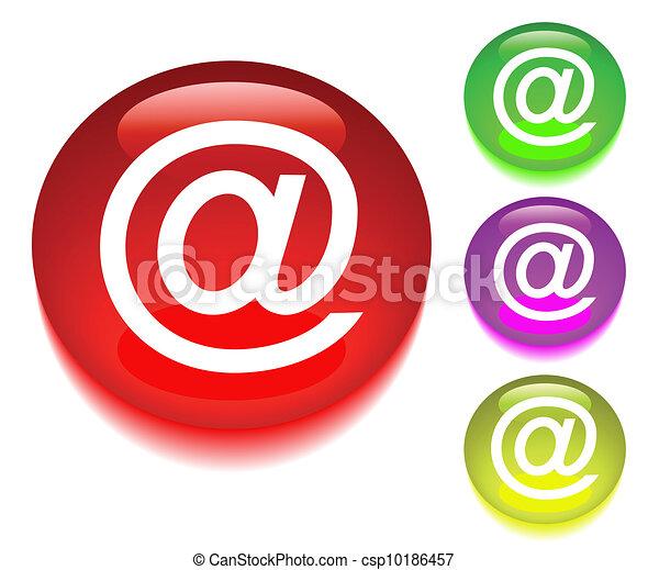 按钮, 因特网, 符号 - csp10186457