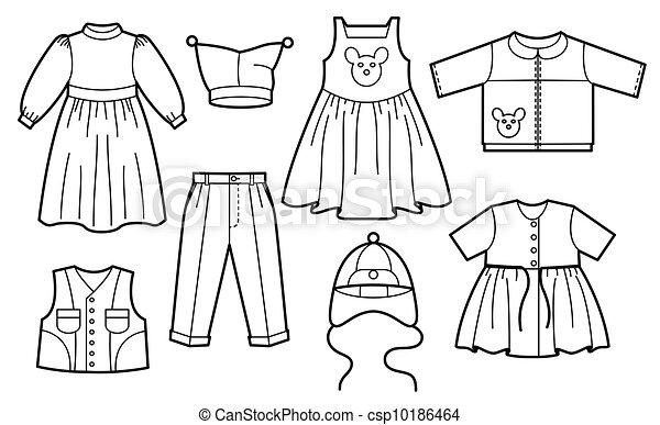 矢量-孩子, 衣服