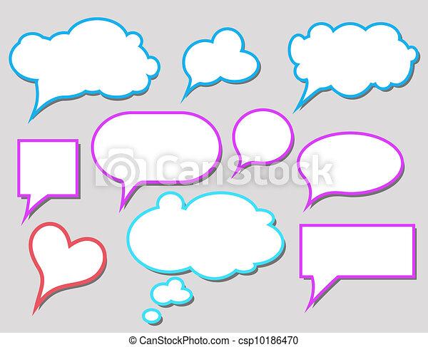 气泡 矢量图说话气泡矢量图透明会话气泡矢量图