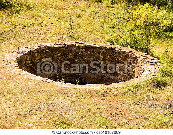 Historic cistern along a railroad line - csp10187009