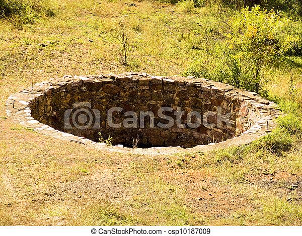 Historic cistern along a railroad line - csp10187009