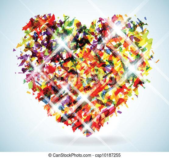 Shattered Heart Drawings Shattered spectrum heart -