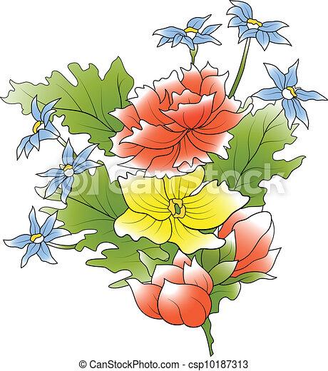 Flower bunch - csp10187313