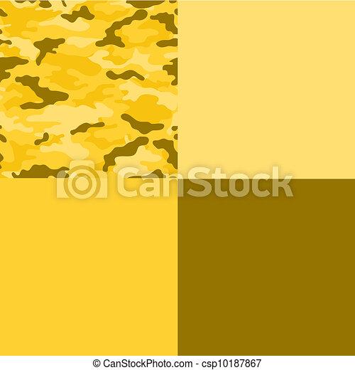Yellow Camo Collage Paper - csp10187867